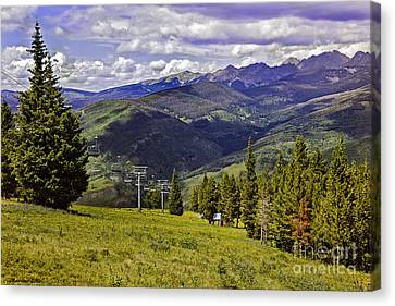 Summer Lifts - Vail Canvas Print