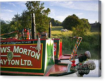 Summer Light On The Grand Union Canal Canvas Print by Tim Gainey