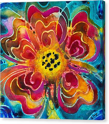 Canvas Print featuring the painting Colorful Flower Art - Summer Love By Sharon Cummings by Sharon Cummings