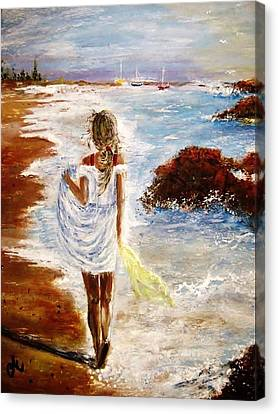 Canvas Print featuring the painting Summer Memories by Cristina Mihailescu