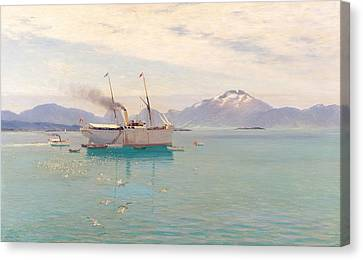 Summer Morning At Molde, 1892 Oil On Canvas Canvas Print by Johannes Martin Grimelund