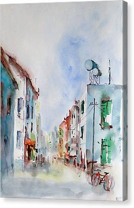 Canvas Print featuring the painting Summer Morning by Faruk Koksal
