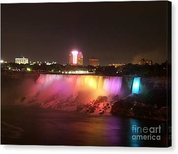 Summer Night In Niagara Falls Canvas Print