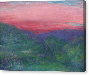 Canvas Print featuring the painting Summer Nocturne by Judith Cheng