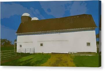 Summer On The Farm Pop Art Canvas Print by Dan Sproul