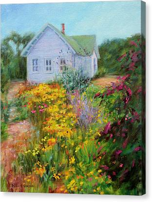 Coneflower Canvas Print - Summer Place- On The Outer Banks by Bonnie Mason