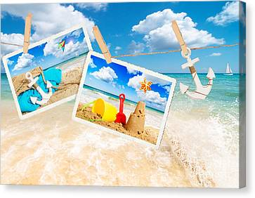 Summer Postcards Canvas Print by Amanda Elwell