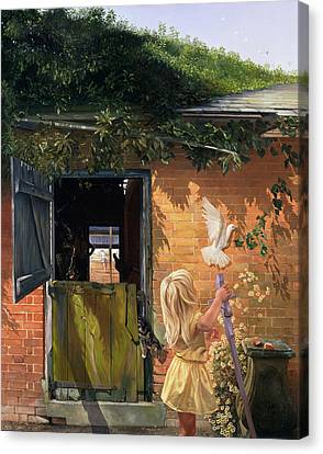 Blonde Canvas Print - Summer Reflection by Timothy  Easton