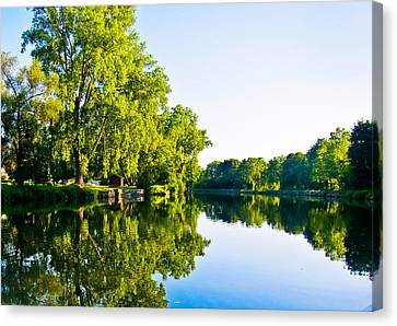 Summer Reflections Canvas Print by Sara Frank