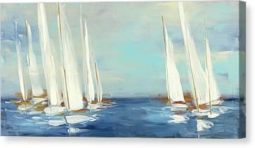 Summer Regatta Canvas Print by Julia Purinton