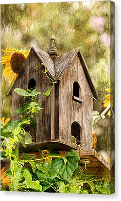 Summer Residence Canvas Print by Joan Bertucci