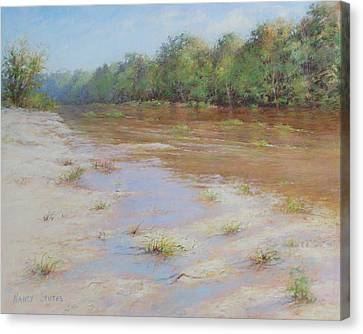 Summer River Canvas Print by Nancy Stutes