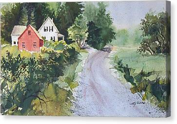 Summer Road Canvas Print by Joy Nichols