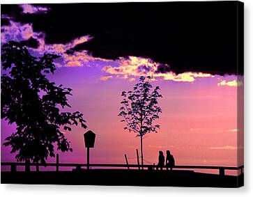 Canvas Print featuring the photograph Summer Romance by Mike Flynn