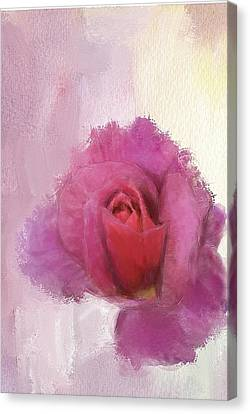Canvas Print featuring the digital art Summer Rose by Mary M Collins