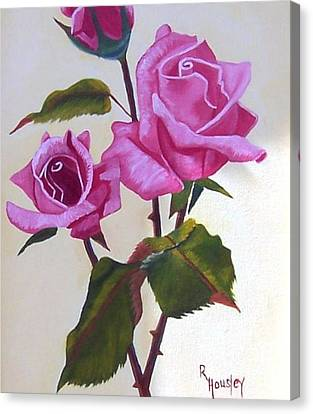 Summer Roses  Canvas Print by Ruth  Housley