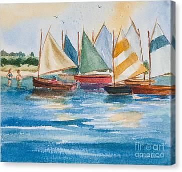 Nantucket Canvas Print - Summer Sail by Michelle Wiarda-Constantine
