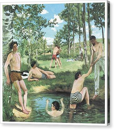 Summer Scene Canvas Print by Frederic Bazille