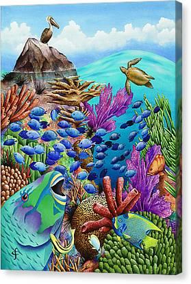 Harmonious Canvas Print - Summer School by Carolyn Steele