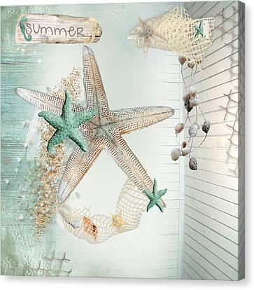 Summer Sea Treasures  Canvas Print