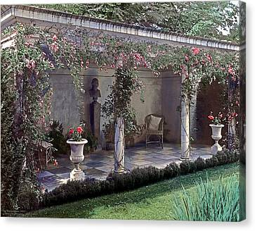 Victorian Canvas Print - Summer Shade by Terry Reynoldson