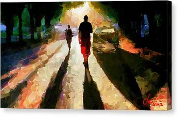 Summer Shadows Tnm Canvas Print by Vincent DiNovici