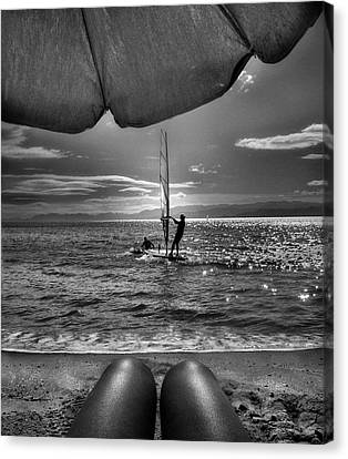 Tanning Canvas Print - Summer by Sol Marrades