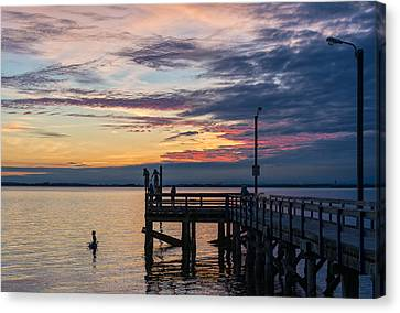 Summer Solstice At Crescent Beach Canvas Print by Paul W Sharpe Aka Wizard of Wonders