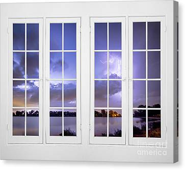 Summer Storm 32 Pane Lake Window View  Canvas Print by James BO  Insogna