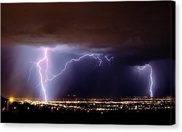 Summer Storm- Albuquerque 2009 Canvas Print