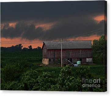 Summer Storm Brewing Canvas Print by Laurie Wilcox