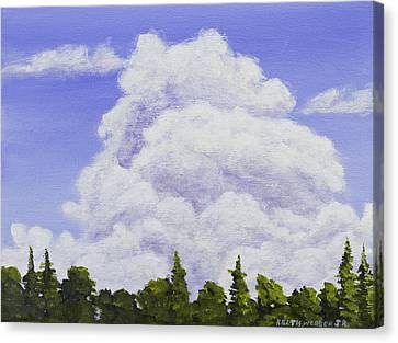 Summer Storm Clouds Over Maine Forest Canvas Print by Keith Webber Jr