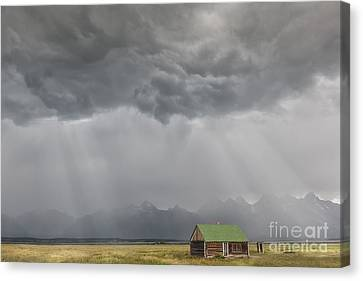 Summer Storm In The Tetons Canvas Print