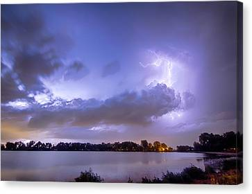 The Lightning Man Canvas Print - Summer Storm by James BO  Insogna