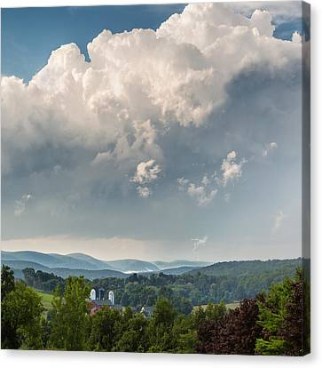 Summer Storm Square Canvas Print by Bill Wakeley