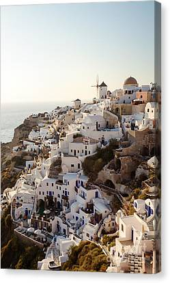 Greek Icon Canvas Print - Summer Sunlight On Santorini by Matteo Colombo