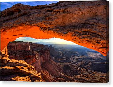 Summer Sunrise At Mesa Arch Canvas Print