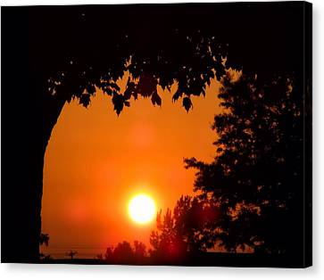 Summer Sunrise Right Side Canvas Print