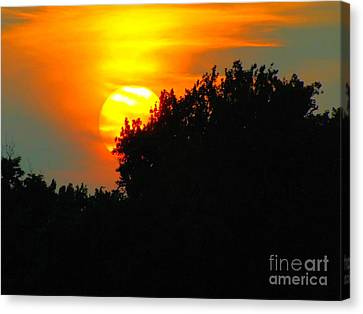 Inspirational Canvas Print - Summer Sunset #3 by Robyn King