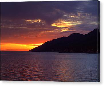 Summer Sunset Canvas Print by Randy Hall