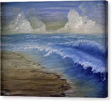 Summer Surf Canvas Print by Judy Hall-Folde