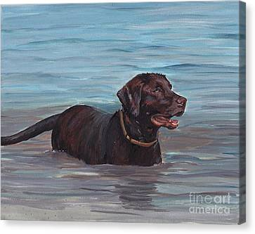 Summer Swim Canvas Print by Charlotte Yealey