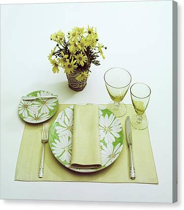Summer Table Setting Canvas Print by Haanel Cassidy