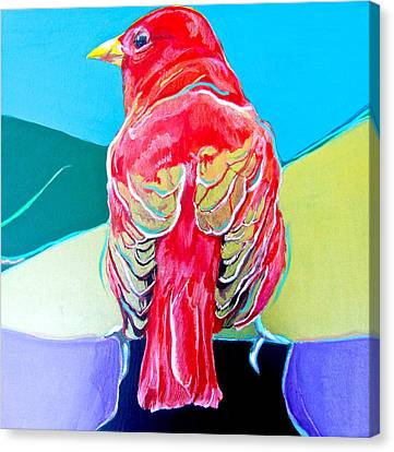 Summer Tanager Canvas Print by Jamie Downs