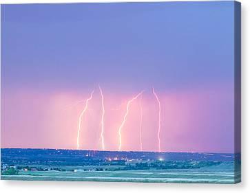 Summer Thunderstorm Lightning Strikes Canvas Print by James BO  Insogna