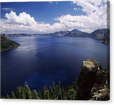 Summer Thunderstorm Canvas Print - Summer Thunderstorms Over Crater Lake by Panoramic Images
