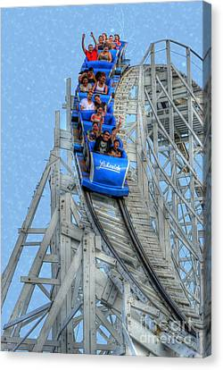 Roller Coaster Canvas Print - Summer Time Thriller by Juli Scalzi
