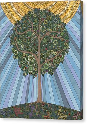 Summer Tree Canvas Print by Pamela Schiermeyer