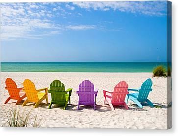 Summer Vacation Beach Canvas Print