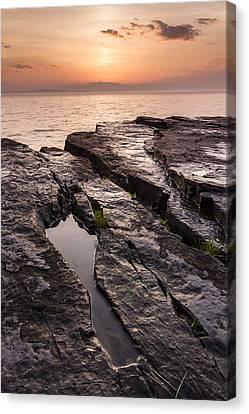 Summer-vermont-lake Champlain-sunset Canvas Print